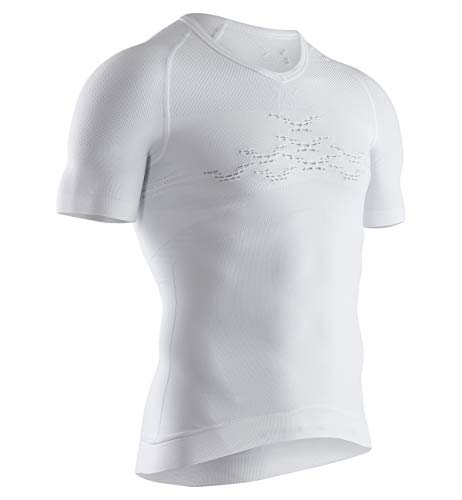 X-Bionic Energizer 4.0 Light V Neck Sleeve Men T-Shirt Homme, Arctic White, FR : 2XL (Taille Fabricant : XXL)