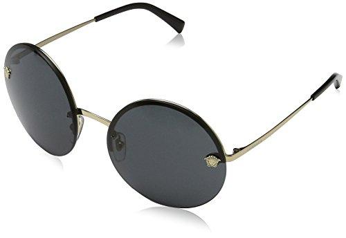 Versace Damen 0VE2176 125287 59 Sonnenbrille, Gold (Pale Gold/Grey)
