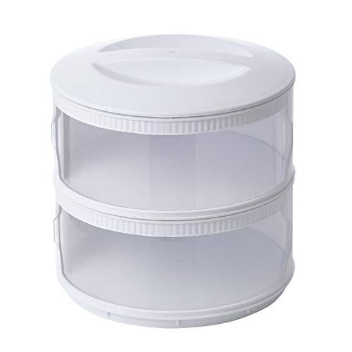 Multi Layer alimentos frescos de mantenimiento de la cubierta del plato, la conservación de alimentos de los hogares cubierta a prueba de polvo lavable comida tapas de cocina Accesorios,2 Layers