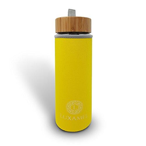 Luxamel | Thermohülle | Nylon Sleeve | Geeignet Teeflaschen | 450ml | Gelb