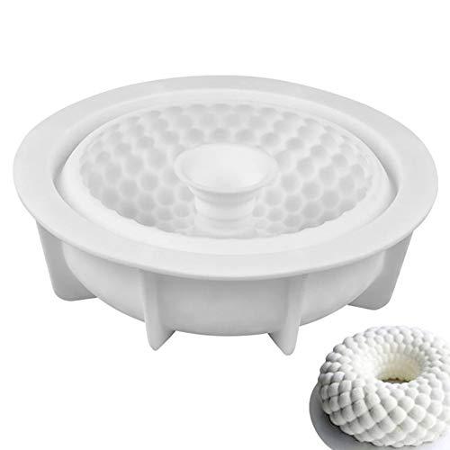 Silikon Formen Geräte Mousse Kuchenform Silikon Backform Geformt 3D Silikon Form DIY Runde Kranz Mould Kuchen Dekoration Werkzeuge für Kuchen, Seife, Gelee, Muffins, Pudding, Cake DIY Mold