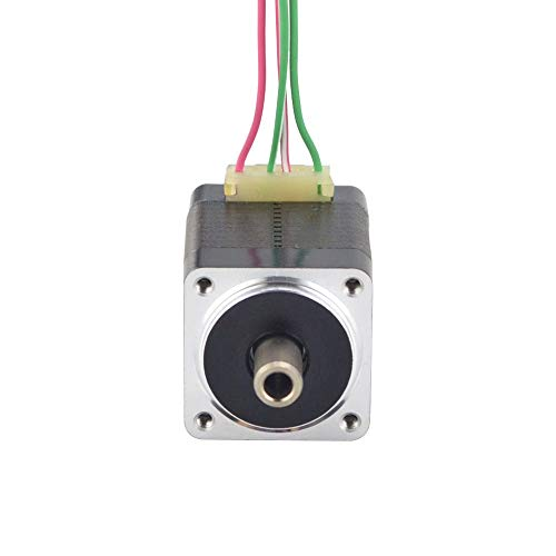 HUANRUOBAIHUO Dual Shaft Nema 8 Stepper Motor Hollow Shaft Bipolar 1.5Ncm(2.12oz.in) 0.49A 4-lead for DIY CNC 3D Printer Motor 3D Printer Parts