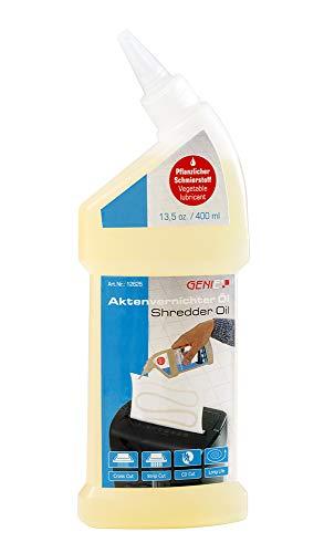 Genie Aktenvernichter Öl (400 ml) | zum Reinigen und Schmieren des Schneidwerkes für eine hohe Schneidleistung | Schneidblock Spezialöl - geeignet für sämtliche Schnittarten, Geräte und Hersteller