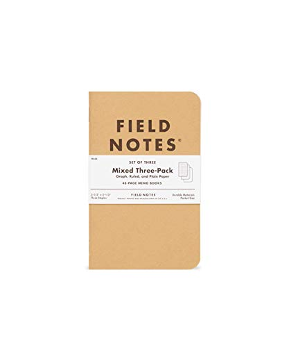 Field Notes Notizbuch, sortiert, 3er-Pack