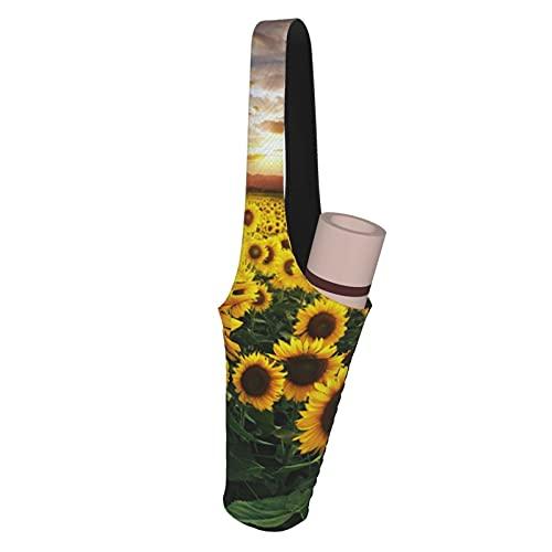Kteubro Funda para esterilla de yoga con diseño de girasoles, ideal para la mayoría de tamaños de colchonetas, yoga, bolsas y portadores para mujeres