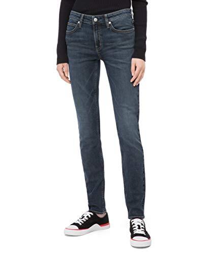 Calvin Klein Women's CKJ 011 Mid Rise Skinny Fit Jean, Venice Blue Dark, 31W x 30L