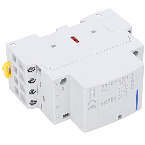 Natruss Contactor de Voltaje CA CC, Carril DIN CA CC Modular, Interruptor Modular de CA doméstico de Ahorro de energía Ultra silencioso de 25 A, para Apartamentos, hogares,(AC/DC 36V)