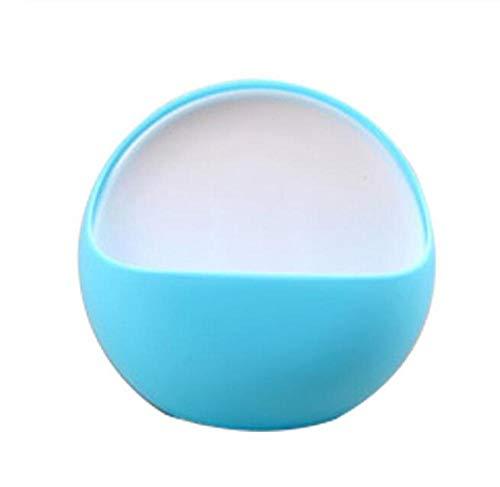 Rmbearmoni zeepbakje voor de badkamer, design met zuignap van kunststof, tandenborstelhouder, afdruiprek, accessoires voor douche