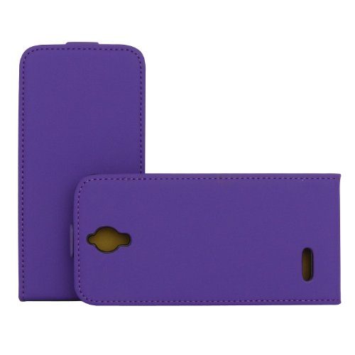 Rocina Premium - Funda con Tapa para Alcatel One Touch Idol 2 Mini, Color Morado