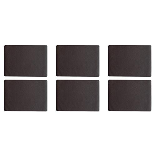 ASA Selection 7804420 table top Lederoptik Tischset, 46 x 33 cm, Kunststoff, schoko (6er Pack)