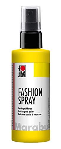 Marabu - Vernice per Stoffa con erogatore Spray, 100 ml, Colore Giallo (Sunshine Yellow)