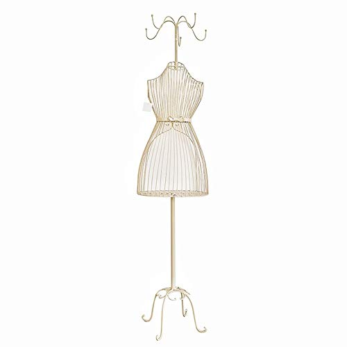 HAIPENG Female Mannequin Torso Body Dress Form Steel Wire Frame Decorative Flower Stand Display Metal Multifunction (Color : White)