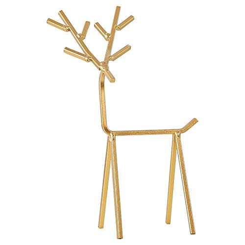 Golden Deer Jewelry Stand Ornaments,Geometry Iron Art Jewellery Display Stand Jewellery Hanger for Necklace, Ring, Earrings, Watches