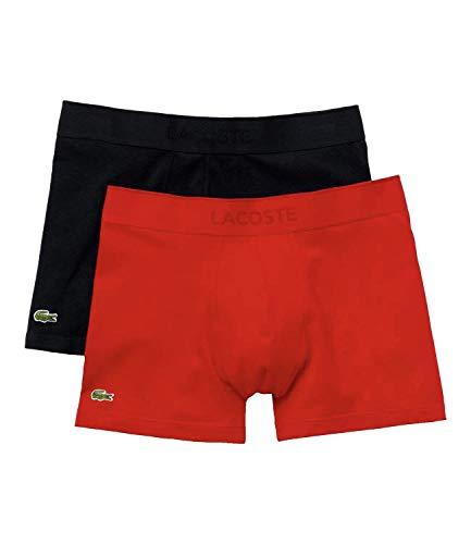 Lacoste Herren 5H3378 Boxershorts, Marine/Rouge, L (2er Pack)
