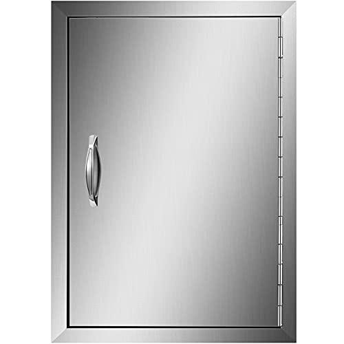 VEVOR 43x61cm Single Küche Kamintür BBQ Access Tür Edelstahl Putztür Outdoor Kitchen Door Walled Door für Außenküchen und Grillinsel