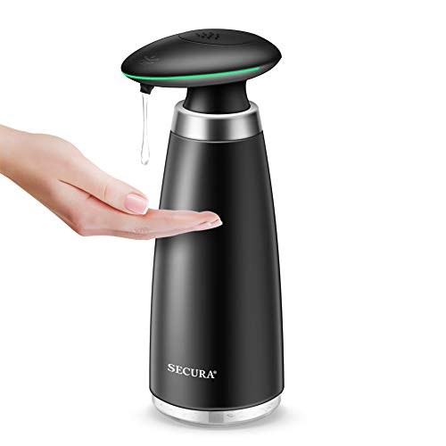 Product Image of the Secura Automatic Soap Dispenser 350ML / 11.8OZ Premium Touchless Battery Operated Electric Dispensers w/Adjustable Soap Dispensing Volume Control, Black