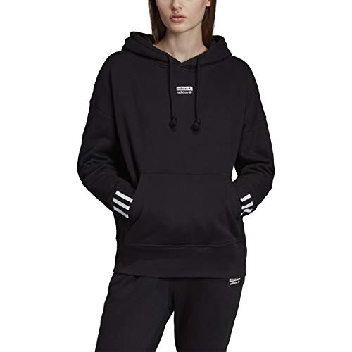 adidas Women's Essentials 3-Stripes Single Jersey Full-Zip Hoodie (X-Small, Black)