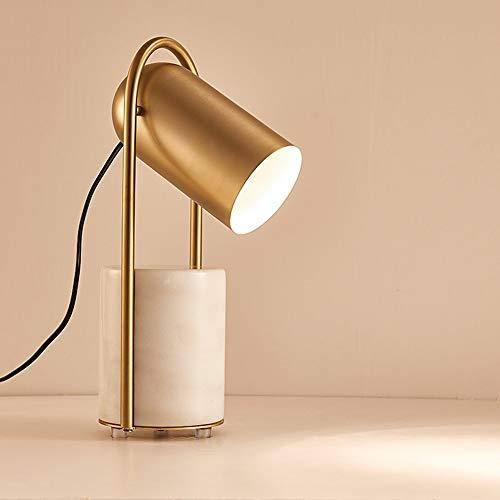Lámparas de mesa DKEE Dorado péndulo mesa lámpara ángulo de mármol ajustable escandinavo moderno personalidad personalidad sala de estar dormitorio dormitorio lectura de la cama Light escritorio artes