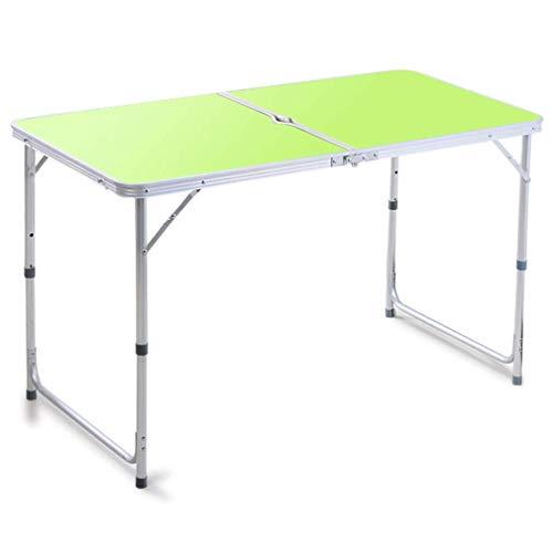 WTT tafel met gaten voor paraplu + 4 inklapbare krukken, tafel, combinatie, in hoogte verstelbaar, voor kantoor, camping, picknick, tuin, terras, barbecue, tafel (kleur: D)