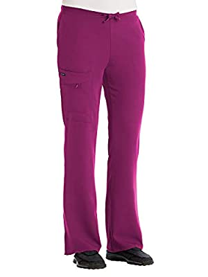 Jockey Scrubs Classic Women's Favorite Fit Drawstring Pant, Plumberry, X-Large Petite