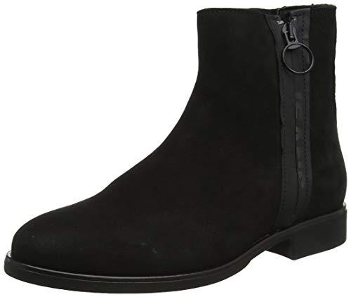 Tommy Hilfiger Damen Tommy Jeans Zip Flat Boot Stiefeletten, Schwarz (Black 990), 39 EU