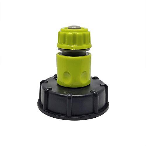 Foyar - Adaptador de grifo IBC, adaptador de manguera de jardín, manguera de plástico, adaptador de válvula de repuesto, piezas funcionales