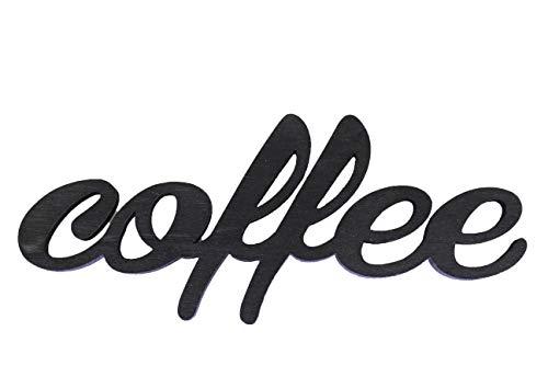 Letrero de café con corazón dorado opcional para los amantes del café y cafetería, bar, restaurante, cafetería, cocina, accesorios para el hogar y el jardín negro vintage black