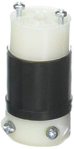 Leviton ML2-C 15 Amp, 125 Volt, Locking Connector, Industrial Grade, Grounding, MiniLock, Black-White