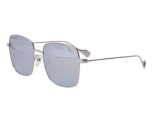 Balenciaga BB0087SK SILVER/SILVER 57/18/145 Unisex Sonnenbrillen