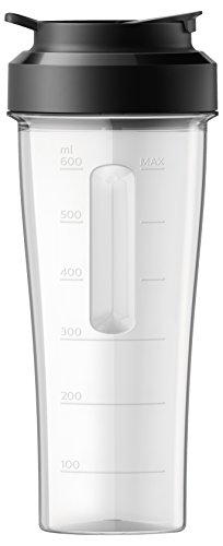 Philips HR3660/55 Tragbares Gefäß, 0,6 Liter, schwarz, transparent