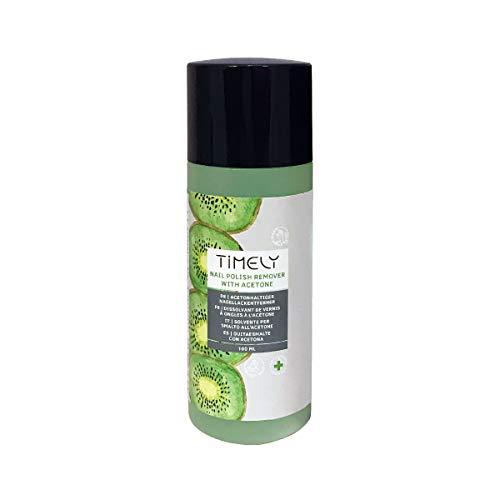 Timely - Dissolvant pour vernis à ongles à lacétone à effet express avec parfum kiwi, 100ml