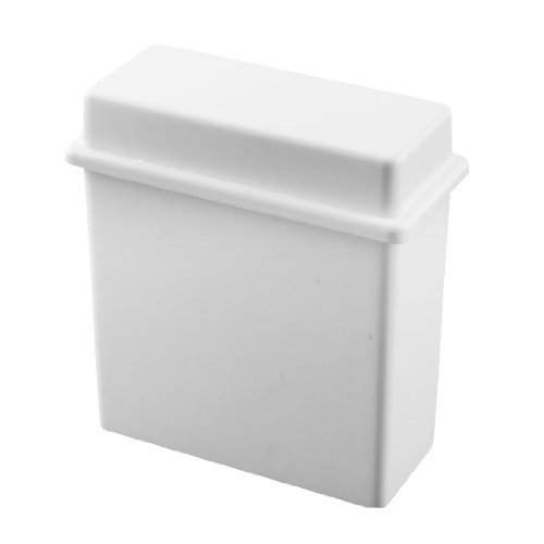 2 in 1 White 24 Places Microscope Slides Staining Rack Dish Set