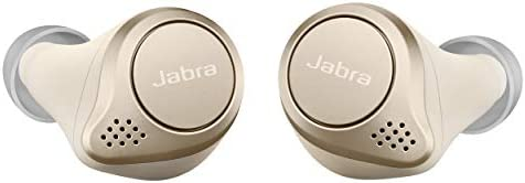 Jabra Elite 75t Earbuds True Wireless Earbuds with Charging Case Gold Beige Active Noise Cancelling product image