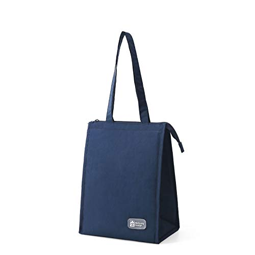 Insulated Lunch Bag Cooler Bag for Men and Women, Water-Resistant Leakproof Thermal Picnic Bag with Bottle Holder, Adjustable Shoulder Strap, Insulated Bento Bag for Office/School/Picnic,25x16x32cm