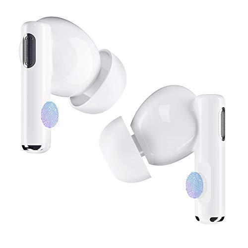kopfhörer in Ears mit HiFi-Stereo-Klangqualität, Bluetooth 5.0-Kopfhörer, drahtlose Kopfhörer mit Rauschunterdrückung, Bluetooth-Kopfhörer für einfache Touch-Steuerung und schnelle Verbindung