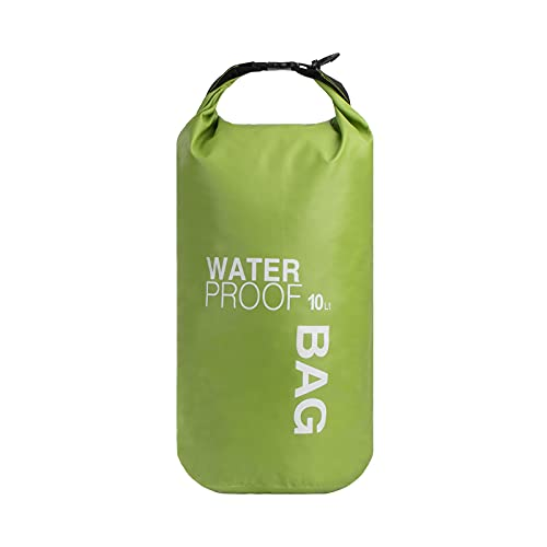 QIMEI-SHOP Dry Bag 10L Wasserdichter Tasche Wasserfester Beutel Für Kajak Paddling Rafting Boot Wandern Camping Wassersport Treiben Grün