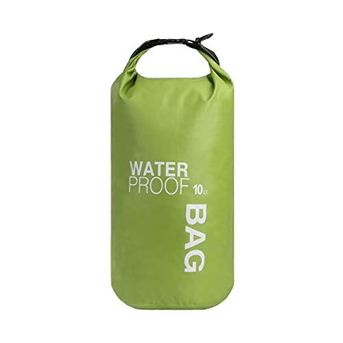 QIMEI-SHOP Bolsa Estanca 10L Bolsas Impermeable Dry Bag para Kayak Canotaje Pesca Viaje Rafting Camping Deportes Acuáticos Verde