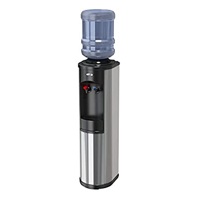 Oasis BTSA1SK STN w/WTG Artesian Bottled Water Cooler with WaterGuard System, Stainless Steel and Black