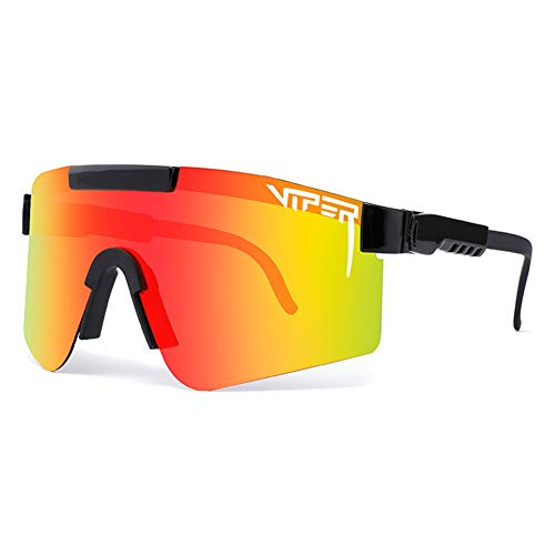 Pit Viper Sport Sonnenbrille, Polarisierte Sonnenbrille, Winddichte Staubdichte Brille Für Den Außenbereich, UV400 Verspiegelte Linse, Für Frauen Und Männer Alle Arten Von Outdoor-Aktivitäten,C07