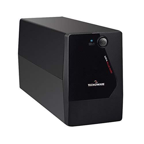 Tecnoware UPS ERA PLUS 1500 Sistemas de Alimentación Ininterrumpida - 2 salidas Schuko - Autonomía hasta 20 min con 1 PC o 80 min con Modem Router - Potencia 1500 VA