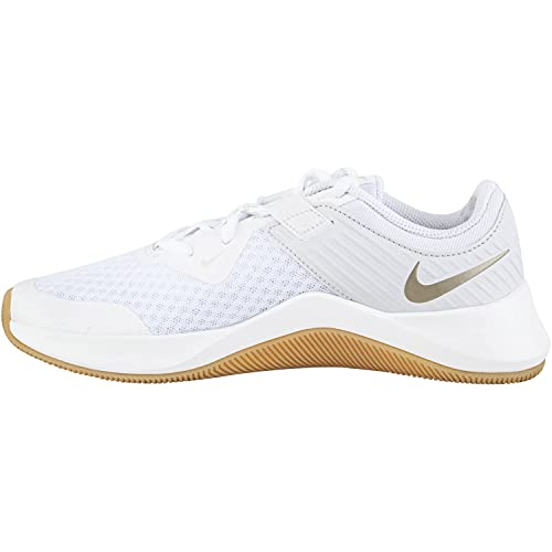 Nike MC Trainer Women's Training Shoe, Donna, White Mtlc Gold Star Platinum Tint, 40.5 EU