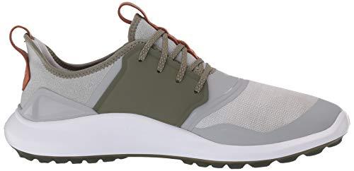 PUMA Men's Ignite Nxt Lace Golf Shoe, High Rise Silver-deep Lichen Green, 9 UK