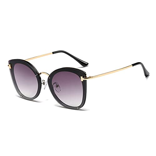 BAJIE Gafas de Sol Pink Cat Eye para Mujer Gafas de Sol Negras para Mujer Gafas sin Marco Mujer Zonnebril Dames