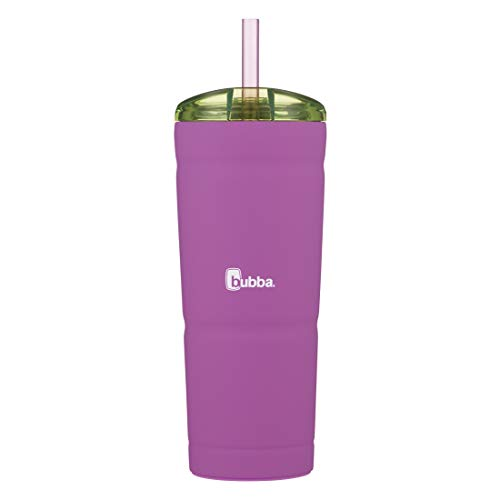 bubba Envy S Vacuum-Insulated Stainless Steel Tumbler with Straw, 24 oz., Mixed Berry