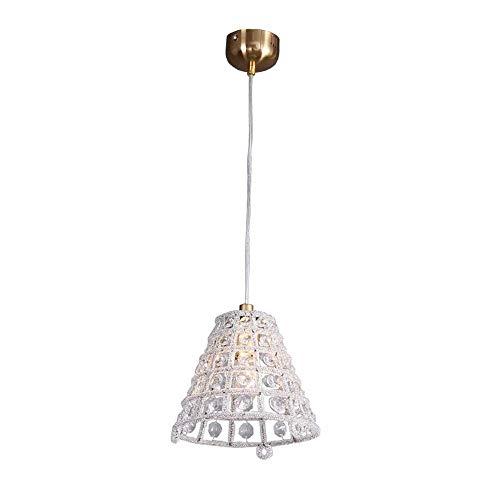 H.Y.FFYH Pendelleuchte Amerikanischen Retro Kronleuchter Reis Perle Trapez Kronleuchter Kristall Kronleuchter Beleuchtung Lampen Restaurant 20 * 19 cm