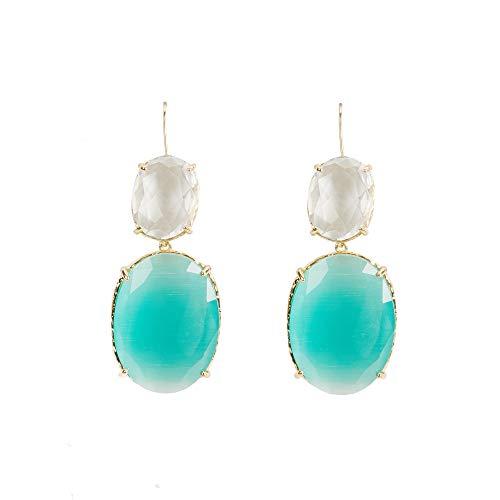 Parfois - Pendientes con Cristales - Mujer - Talla Única - Verde