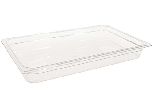 Rubbermaid Commercial Products Cold Food Insert Pan for Restaurants/Kitchens/Cafeterias, Full Size, 2.5 Inches Deep, Clear (FG130P00CLR)