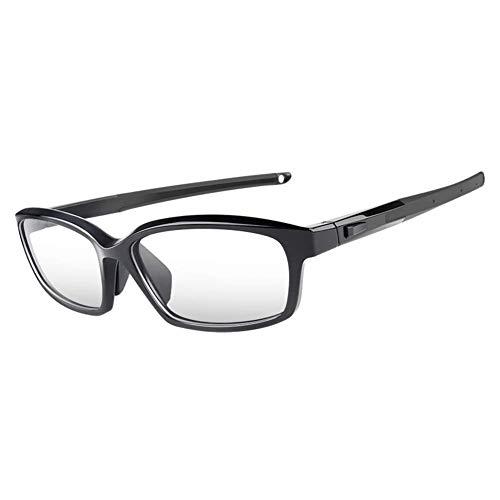 Fankeshi Sportbrille, austauschbare Bügel, für Herren, Laufen, Basketball, Fußball, Schwarz (schwarz), Einheitsgröße