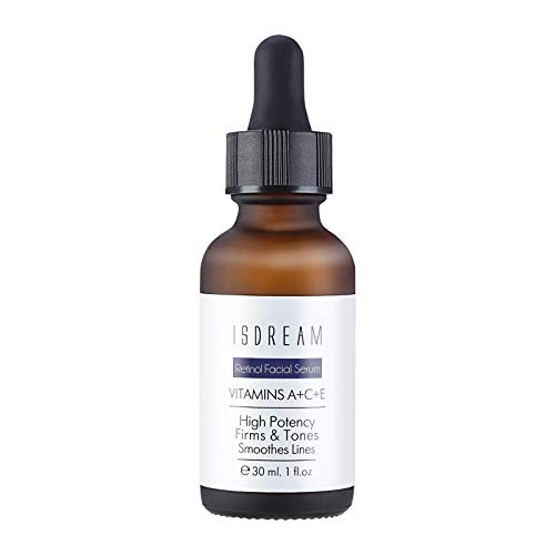 Isdream Retinol Face Serum High Strength with Hyaluronic Acid Anti Aging Serum for Face Facial Serum for Moisturizing Skin Repair Fine Line and Wrinkles