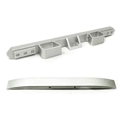 YINLANSTOR YLAN Store Metal Front Bumper Guard Fit para WPL 1/16 C34 RC Camión Coche FJ40-Silver & Metal Trasero Parachoques Se Puede Instalar para WPL-SULIN (Color : Silver)